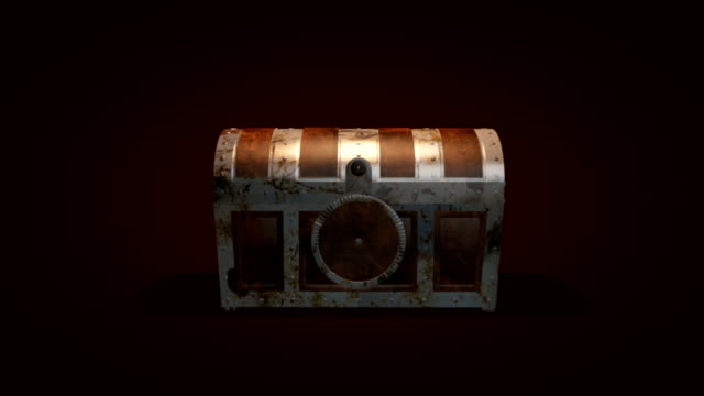 Treasure chest with gold inside video