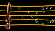 Treble clef musical notes High tempo video