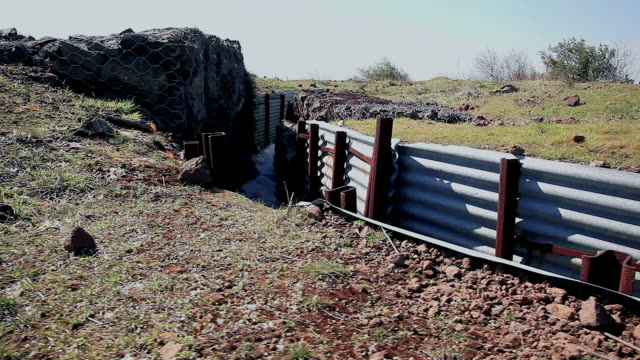Trenches in the field video