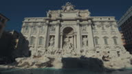 Trevi Fountain in Rome cleaned up and restored video