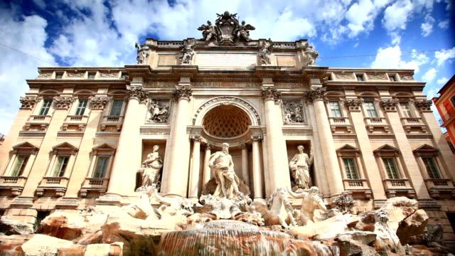 Trevi Fountain in Rome, Italy video