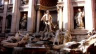 Trevi fountain in Rome video