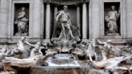 Trevi Fountain in Rome (HD) video