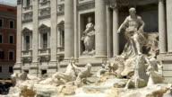 Trevi Fountain (Fontana di Trevi) Rome, Italy. video