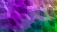 Triangle abstract multicolored background video
