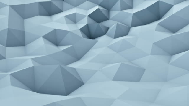 Triangle polygons vibrating chaotic loopable animation 3D render video