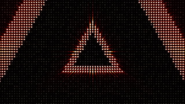 Triangles Bulb Lights Animation, Background video