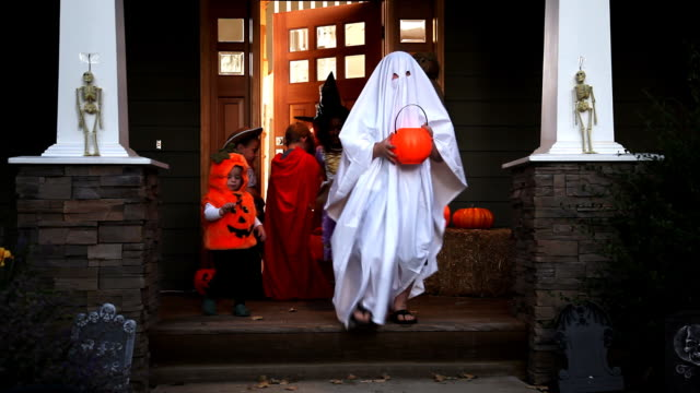 Trick or treating on Halloween video