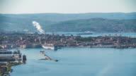 Trieste seaside timelapse in spring video