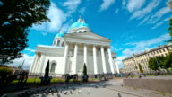 Trinity Izmailovsky Cathedral. St. Petersburg. Russia. timelapse video