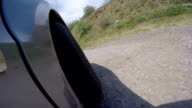 Trip by car along winding mountain road on southern coast of Crimea video