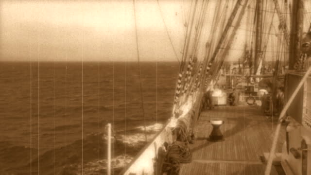 trip on a tall ship - stylized old movie video