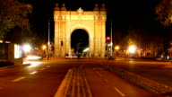 Triumph Arch Barcelona video
