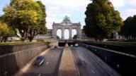 Triumphal Arch, Parc du Cinquantenaire, Brussels, Belgium video