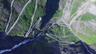Trollstigen pass from air video
