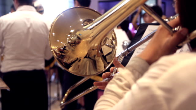 Trombone performing video