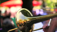 Trombone Player Close-up video