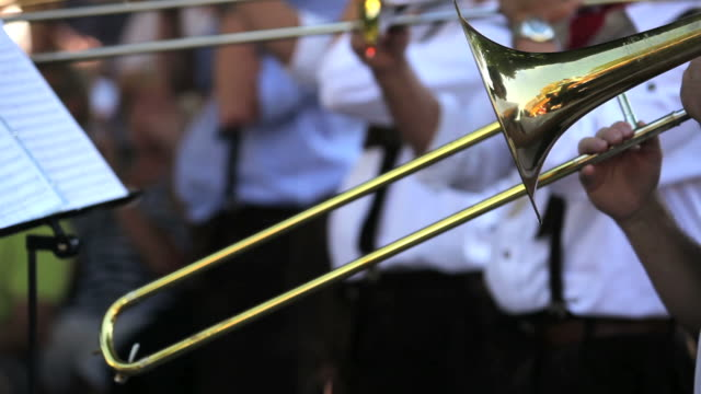 Trombone Players Close-up video