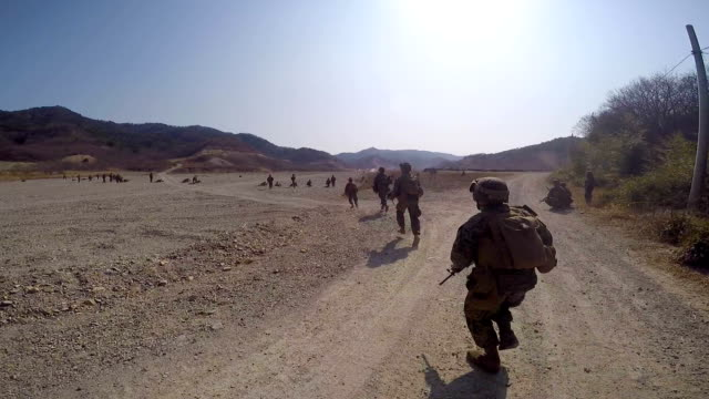 Troops In Action video