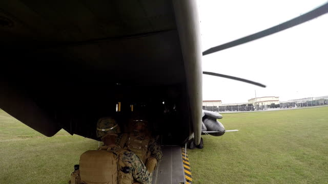 Troops Loading Into Helicopter video
