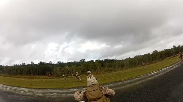 Troops Securing Airport video