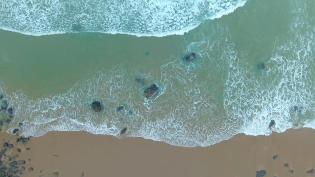 Tropical Beach and Ocean Waves Top View video