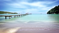 tropical beach and pier video