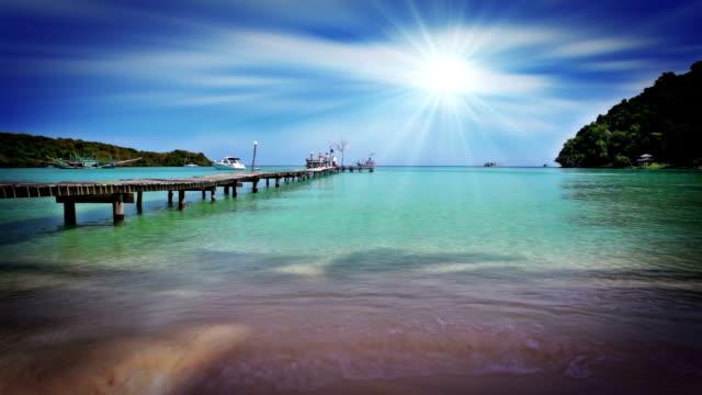Tropical beach and pier video