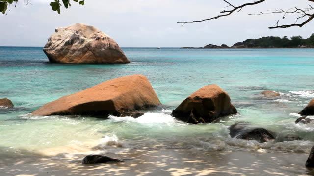 Tropical beach Anse Lazio, Seychelles video