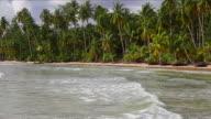 Tropical beach on island video
