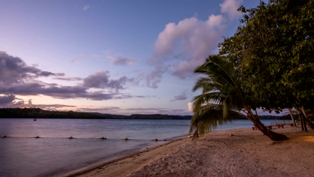 Tropical Beach Sunset Timelapse: Tonga video