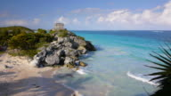 Tropical Beach Tulum Mexico video