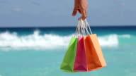 Tropical celebration on beach video