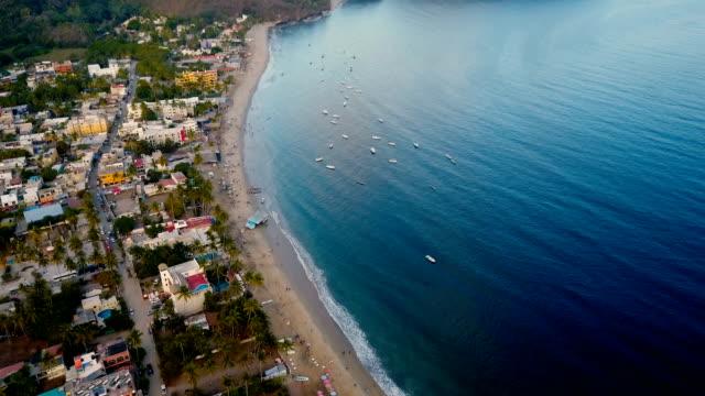 Tropical Coastal village in Mexico video