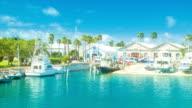 Tropical Harbour Setting in Bermuda's Royal Navy Dockyard video