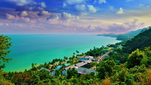 Tropical island, air-view video