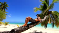 Tropical island relaxing video