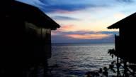 tropical island sunset video