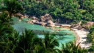 Tropical laguna beach video