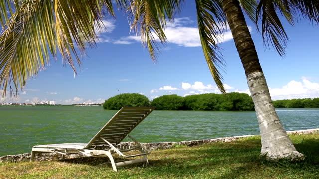 Tropical lake Nichupte lagoon video