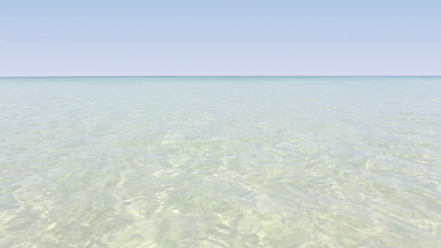 Tropical sea beach ripple water reflections video