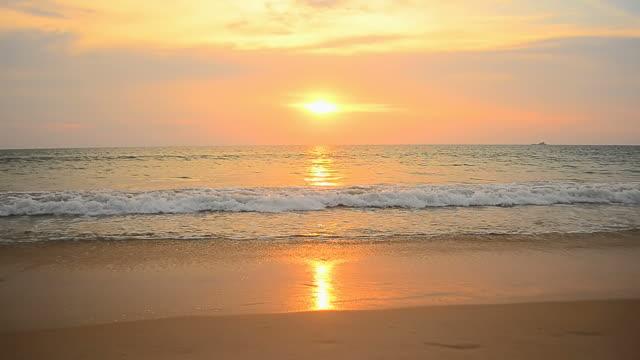 Tropical sunset beach video