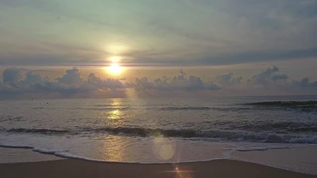 4K, Tropical sunset beach video