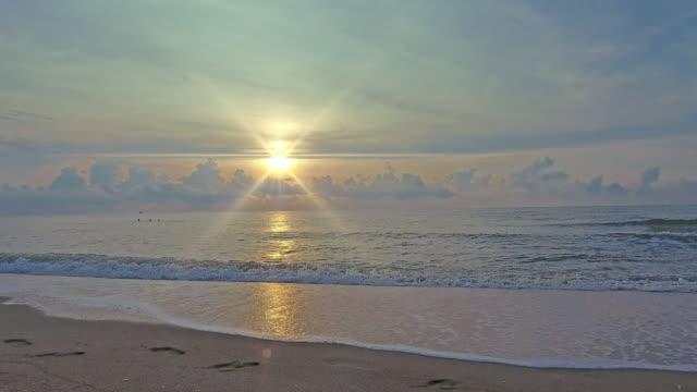 Tropical sunset or sunrise on the beach. video