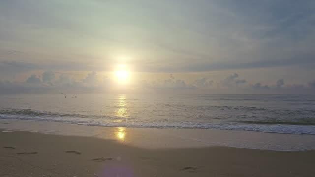 Tropical sunset or sunrise on the beach video