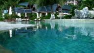 Tropical swiming pool video