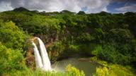 tropical Wailua Falls, kauai, hawaii video