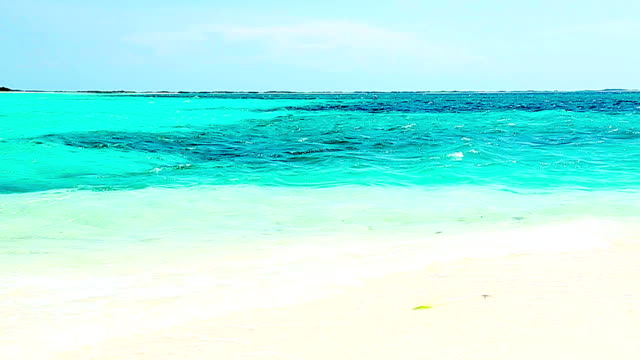 HD Tropical white sand turquoise cay beach in the Caribbean video