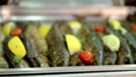 Trouts with spices and seasoning video
