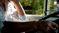 Truck Driver in Cab video